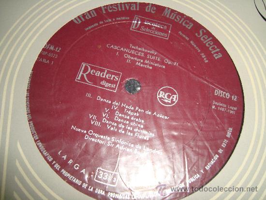 Discos de vinilo: COLECCIÓN DISCOS LPs, GRAN FESTIVAL DE LA MÚSICA SELECTA, DISCOTECA DE SELECCIONES RCA - Foto 6 - 35988223