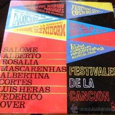 Discos de vinilo: LP FESTIVALES DE LA CANCION-1963-ESPAÑOL-INTERPRETES EN PORTADA. Lote 35993294