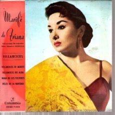 Discos de vinilo: EP MARIFE DE TRIANA : VILLANCICOS DE MARIFE . Lote 36000300