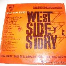 Discos de vinilo: WEST SIDE STORY (1962 CBS SP) ESTA NOCHE BAILE EN EL GIMNASIO MARIA UNA CHICA ATRACTIVA BERNSTEIN . Lote 36065848