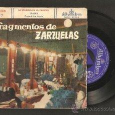 Discos de vinilo: FRAGMENTOS DE ZARZUELAS SELECCION Nº 7. Lote 36032121