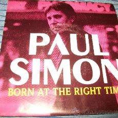 Discos de vinilo: PROMO EP 45 - PAUL SIMON - BORN AT THE RIGHT TIME . Lote 36034885