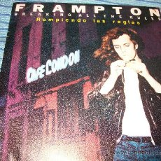 Discos de vinilo: PROMO EP 45 - PETER FRAMPTON - BREAKING ALL THE RULES / NIGHT TOWN. Lote 36034917
