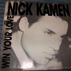 Discos de vinilo: PROMO EP 45 - NICK KAMEN - WIN YOUR LOVE. Lote 36035000