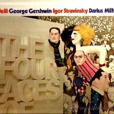 Discos de vinilo: LP KURT WEILL & GEORGE GERSHWIN & IGOR STRAVINSKY & DARIUS MILHAUD ( BERNARD HERRMANN ). Lote 36035946