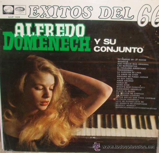ALFREDO DOMENECH Y SU CONJUNTO - EXITOS DEL 66 -LP LA VOZ DE SU AMO DE 1966, RF-741 (Música - Discos - LP Vinilo - Orquestas)