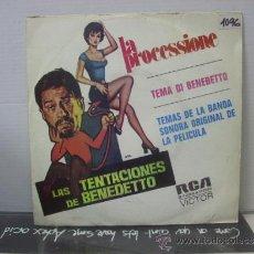Discos de vinilo: LAS TENTACIONES DE BENEDETTO B.S.O. - LA PROCESSIONE + 1 - EDICION ESPAÑOLA - RCA 1973. Lote 36051065