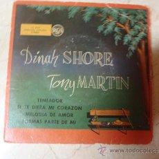 Discos de vinilo: SINGLE DINAH SHORE TONY MARTIN. Lote 36072615