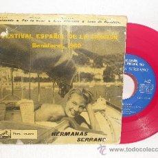 Discos de vinilo: EP DE LAS HERMANAS SERRANO ... II FESTIVAL ESPAÑOL DE LA CANCION BENIDORM 1960 ** LA VOZ DE SU AMO. Lote 36074506