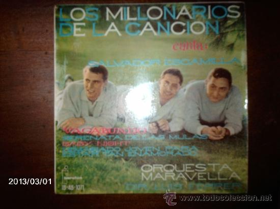 LOS MILLONARIOS DE LA CANCIÓN - VAGABUNDO + 3 (Música - Discos de Vinilo - EPs - Grupos Españoles 50 y 60)