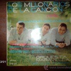 Discos de vinilo: LOS MILLONARIOS DE LA CANCIÓN - VAGABUNDO + 3. Lote 36088412