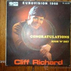 Discos de vinilo: CLIFF RICHARD - CONGRATULATIONS + HIGH´N ´DRY . Lote 36091844