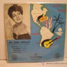 Discos de vinilo: SINGLE DE ANA MARIA GONZALEZ AÑOS 60. Lote 36117360