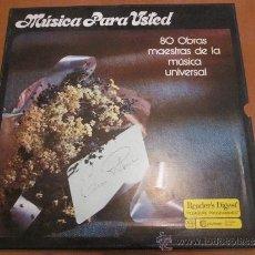 Discos de vinilo: MÚSICA PARA USTED CAJA 10 LPS 80 OBRAS MAESTRAS DE LA MÚSICA UNIVERSAL. Lote 36109415