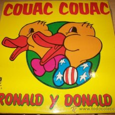 Discos de vinilo: LP - COUAC COUAC - RONALD Y DONALD. Lote 36115980