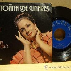 Discos de vinilo: ANTOÑITA DE LINARES. EN LA CARA. SINGLE 1976. SELLO BELTER. VINILO DE MUY BUENA CALIDAD. ***/****. Lote 36118706