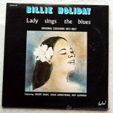 Discos de vinilo: BILLIE HOLIDAY LADY SINGS THE BLUES DOBLE LP FESTIVAL ALB 144. Lote 36126174