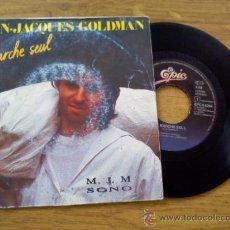 Discos de vinilo: -JACQUES GOLDMAN. JE MARCHE SEUL.ELLE ATTEND. Lote 36150472