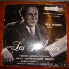 Discos de vinilo: PIERRE MONTEUX DIRIGE LOS PRELUDIOS DE LISZT. ORQUESTA SINFÓNICA DE BOSTON, SAN FRANCISCO. RCA. Lote 36180091