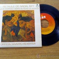 Discos de vinilo: ORFEON NAVARRO REVERTER.RETAULE DE NADAL.SON CHAPIN. NOVA COM CAP ALTRA. GUIAME A BELEN. LAS POSADAS. Lote 36233407