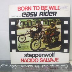 Discos de vinilo: STEPPENWOLF - EASY RIDER - BORN TO BE WILD / THE PUSHER - EDICION ESPAÑOLA - ABC 1976. Lote 36148843