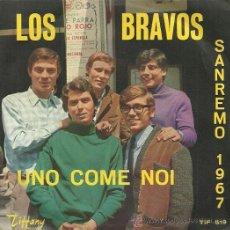 Discos de vinilo: LOS BRAVOS SINGLE SELLO TIFFANY EDITADO EN ITALIA. Lote 36150056