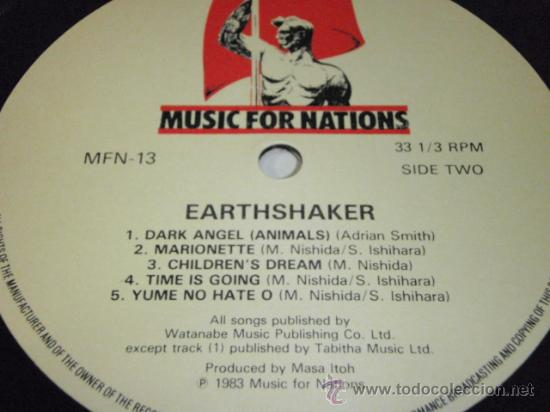 Discos de vinilo: EARTHSHAKER ( EARTHSHAKER ) 1983 - FRANCE LP33 MUSIC FOR NATIONS - Foto 4 - 36154656