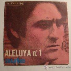 Discos de vinilo: SINGLE LUIS EDUARDO AUTE - ALELUYA Nº 1. ROJO SOBRE NEGRO (RCA VICTOR 1967).. Lote 36156843