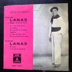 Discos de vinilo: RAIMUNDO LANAS Y MIGUEL CENOZ, JOTAS NAVARRAS - EP DE VINILO. Lote 36163618