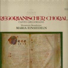 Discos de vinilo: GREGORIANISCHER CHORAL (CANTO GREGORIANO).MONASTERIO BENEDICTINO. MARÍA EINSIELDEN. LP 33 RPM. 1973. Lote 36167807