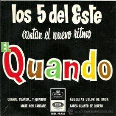 Discos de vinilo: LOS 5 DEL ESTE EP SELLO EMI-REGAL AÑO 1965. Lote 36168119