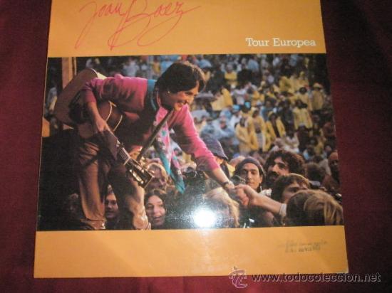 LP-JOAN BAEZ-TOUR EUROPEA-1982-CBS-PERFECTO. (Música - Discos - LP Vinilo - Pop - Rock - Internacional de los 70)