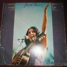 Discos de vinilo: LP-JOAN BAEZ-GRACIAS A LA VIDA-AM RECORDS-1975-VER FOTOS.. Lote 36807418