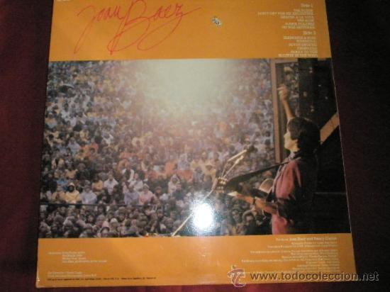 Discos de vinilo: LP-JOAN BAEZ-TOUR EUROPEA-1982-CBS-PERFECTO. - Foto 2 - 36188454
