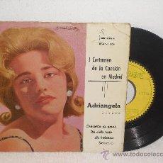 Discos de vinilo: EP DE ADRIANGELA ... LA BALANZA + 3 ** I CERTAMEN DE LA CANCION DE MADRID ** IBEROFON - 1961. Lote 36193248