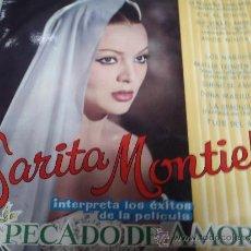 Discos de vinilo: SARITA MONTIEL PELICULA PECADO DE AMOR SARA MONTIEL. Lote 36229292