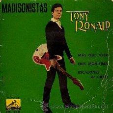 Discos de vinilo: TONY RONALD 7' EP MADISONISTAS +3 (SOLO PORTADA). Lote 36237596