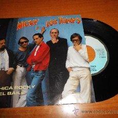 Discos de vinilo: MICKY Y LOS TONYS MI CHICA ROCKY / AQUEL BAILE SINGLE DE VINILO DEL AÑO 1982 CONTIENE 2 TEMAS. Lote 36258619