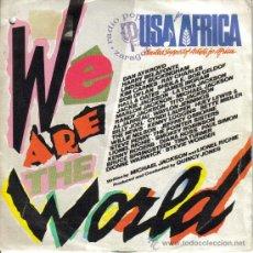 Discos de vinilo: USA FOR AFRICA + QUINCY JONES-WE ARE THE WORLD + GRACE SINGLE VINILO 1985 SPAIN. Lote 36269512