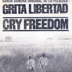 Discos de vinilo: BSO GRITA LIBERTAD SINGLE 1988 PROMOCIONAL SPAIN. Lote 36274990