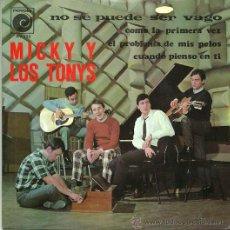 Discos de vinilo: MICKY Y LOS TONYS EP SELLO NOVOLA AÑO 1967 DEL FILM CODO CON CODO. Lote 36277385