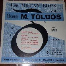 Discos de vinilo: LOS MILLAN BOYS, SANTA CLAUS,-BEAT- + 3 -EP SINTONIA 1969. Lote 36278343