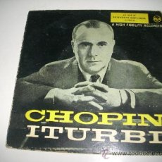 Discos de vinilo: CHOPIN ITURBI (1958 RCA ESPAÑA) SINGLE ORIGINAL ESPAÑOL DE 1958. Lote 36296434