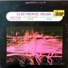 Discos de vinilo: JOHN CAGE, LUCIANO BERIO, ILHAN MIMAROGLU – ELECTRONIC MUSIC . Lote 36301463
