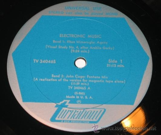 Discos de vinilo: John Cage, Luciano Berio, Ilhan Mimaroglu – Electronic Music - Foto 2 - 36301463
