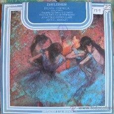 Disques de vinyle: LP - DELIBES - SYLVIA / COPPELIA (SPAIN, DISCOS PHILIPS 1976). Lote 36306018