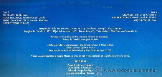 Discos de vinilo: LP LONE STAR - VIEJO LOBO - Foto 2 - 36314641