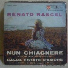 Discos de vinilo: RENATO RASCEL - NUN CHIAGNERE - IX FESTIVAL DELLA CANZONE NAPOLETANA - SINGLE 1961 - SV. Lote 36316228