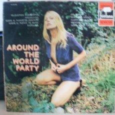 Discos de vinilo: AROUND THE WORD PARTY CON DISCO ROTO DENTRO. Lote 36433679