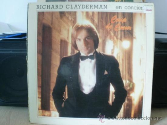 RICHARD CLAYDERMAN EN CONCIERTO COUP DE COEUR 2 DISCOS (Música - Discos - LP Vinilo - Clásica, Ópera, Zarzuela y Marchas)
